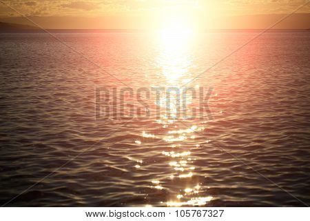Magnificent Marine Sunset Scene