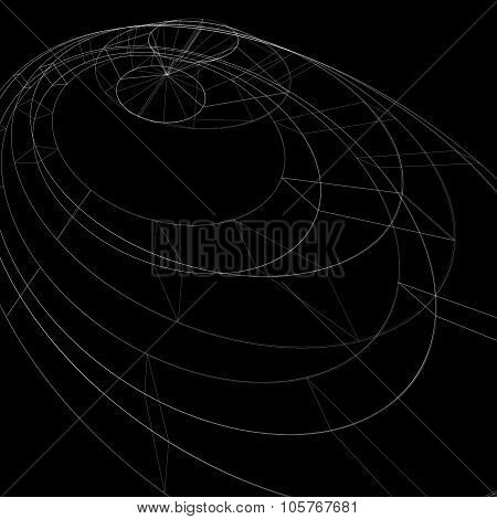 Geometric Dark Monochrome Lattice Engineering Backdrop, Contemporary Complex 3D Abstraction With Lin
