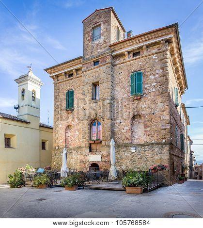 Beautiful Street Of Montisi, Tuscany