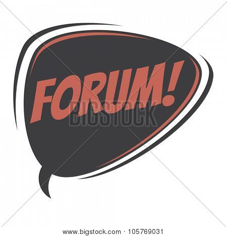 forum retro speech bubble