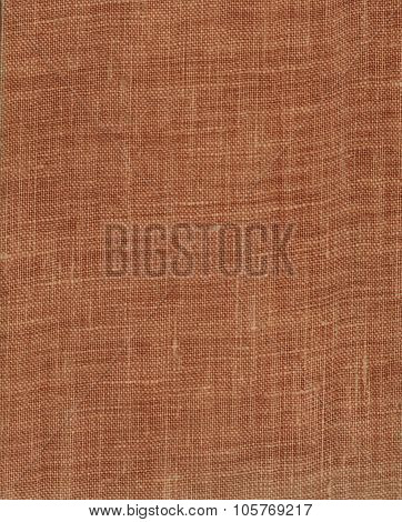 Brown Or Dark Red Cloth Book Binding Background