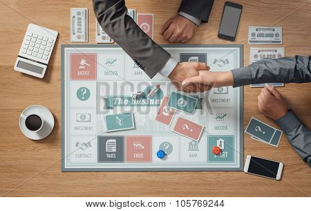 Two People Playing A Board Game