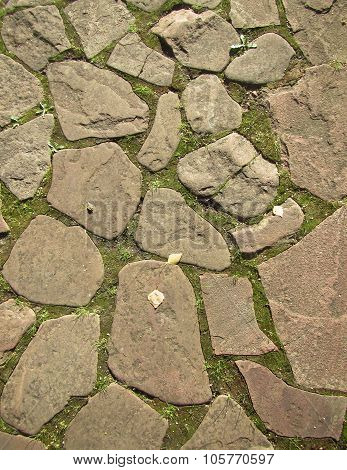 Cobblestone  pavement background
