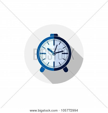 Wake Up Idea Illustration. Classic Three-dimensional Alarm-clock Isolated On White. Table Clock.