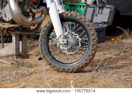 Wheel Of The Racing Motorcycle
