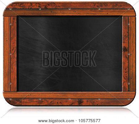 Old Empty Blackboard With Screws