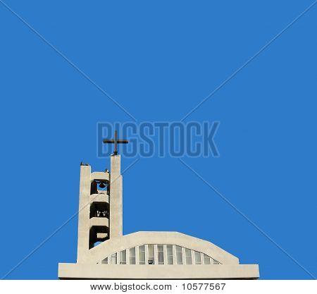 Concrete Church on Blue Sky