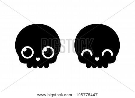 Cute Cartoon Skull