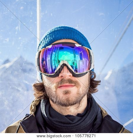 Portrait Of Man At Ski Resort