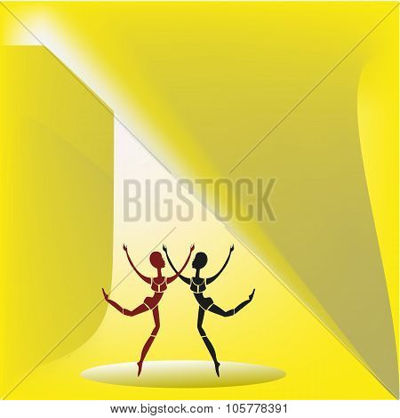 Two Dancing Figures.