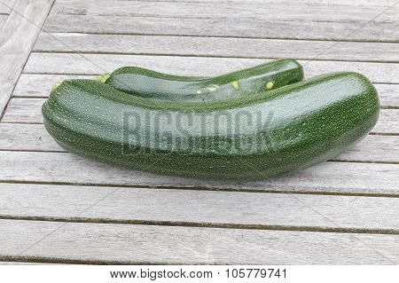 Fresh Courgettes Or Zucchini