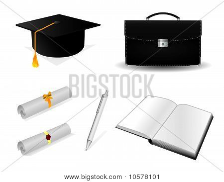 The collection of accessories for the graduate