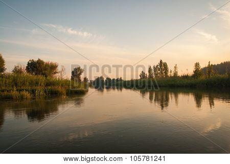 Volga Delta, Sunset, Russia
