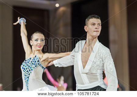 Minsk, Belarus -september 27, 2015: Karatkevich Vladimir And Kravchenko Nataliya Perform Perform Juv