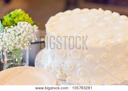 White Cake At A Shower