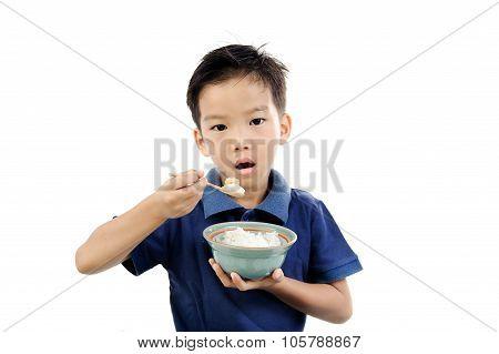 Boy Eat Rice