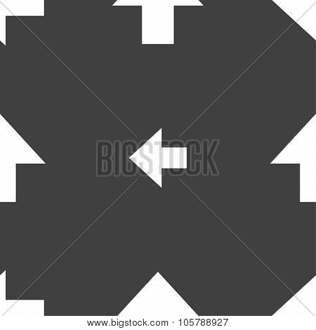 This Side Up Sign Icon. Fragile Package Symbol. Seamless Pattern On A Gray Background. Vector