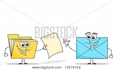 Folder and Envelope