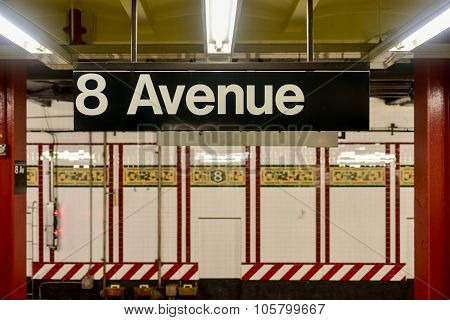 Eighth Avenue Subway Station - New York City