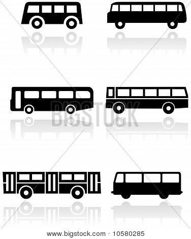 Sistema de vector símbolo autobús o van.