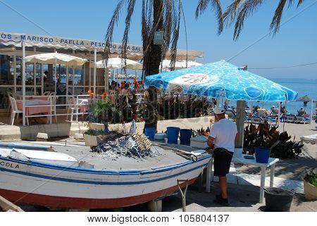 Beach restaurant, Fuengirola.