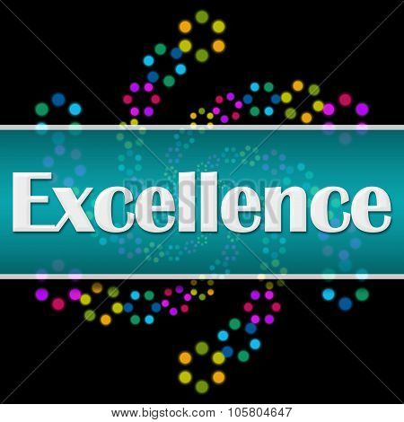 Excellence Dark Colorful Neon Square Horizontal