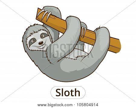 Sloth cartoon vector illustration