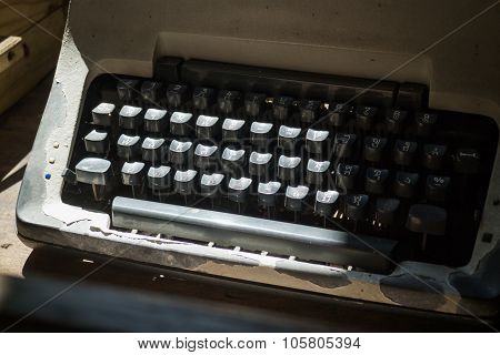 Antique Typewriter Keys Of Thai