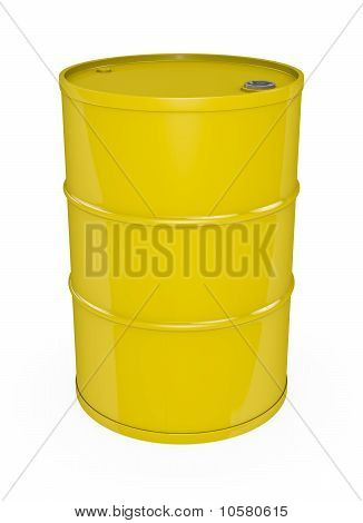 Yellow oil drum