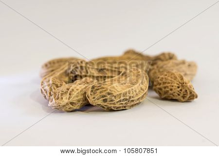 Fresh Peanut On White Paper