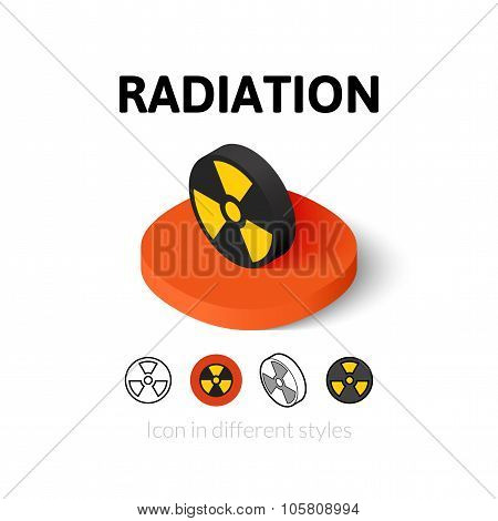 Radiation icon in different style