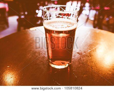 Retro Looking Pint Of Beer