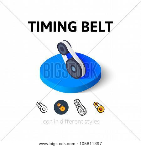 Timing belt icon in different style