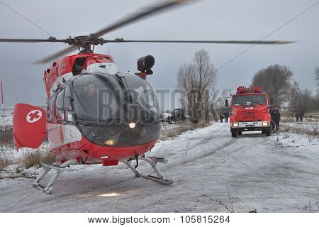 Eurocopter Ec145 Rescue Helicopter