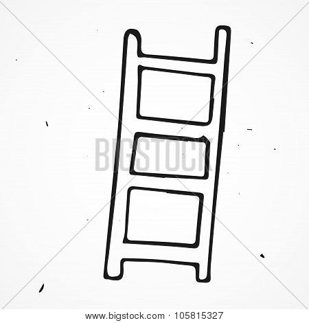 Ladders, Stepladders Hand Drawn