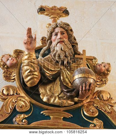 Polychrome Statue In The Cathedral Of Burgos
