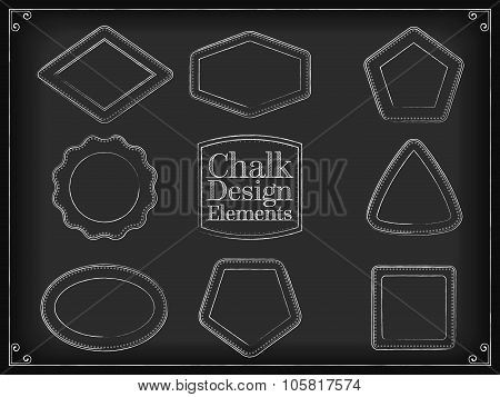 Vector illustration chalk design elements