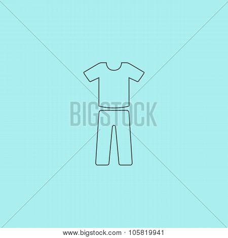 uniform - pants and t-shirt