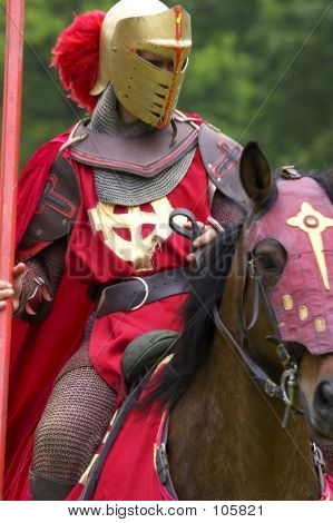 Knights Jousting Warwick Castle England Uk