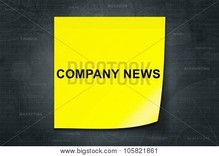 Company News Word On Yellow Note