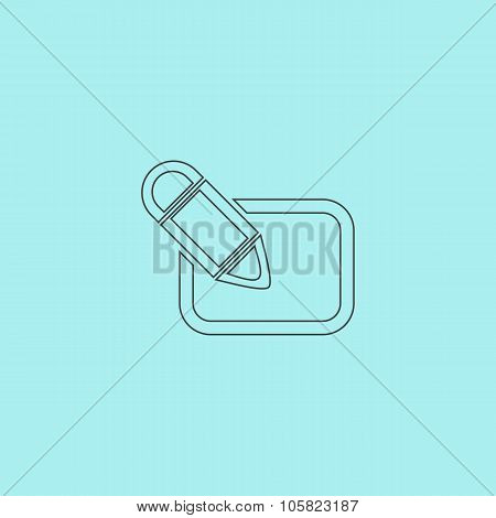 Registration icon, vector illustration.