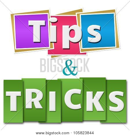 Tips And Tricks Colorful Squares Stripes