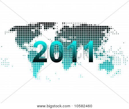 Stock photo : World Map 2011