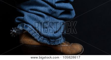 Jeans and Cowboy Boots Panorama