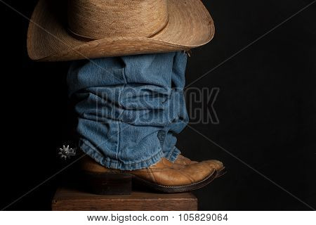 Jeans and Cowboy Hat