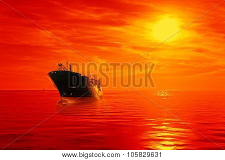 Ship At Sunrise
