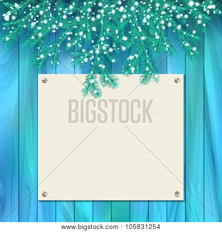 Vector Signboard Christmas Card