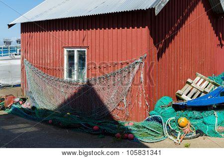 Red Boathouse on swedish westcoast