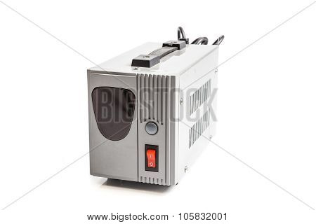 the voltage regulator isolated on white background