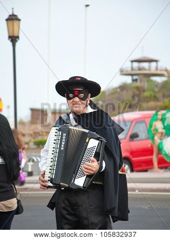 Corralejo - March 17: Dressed-up Participant,